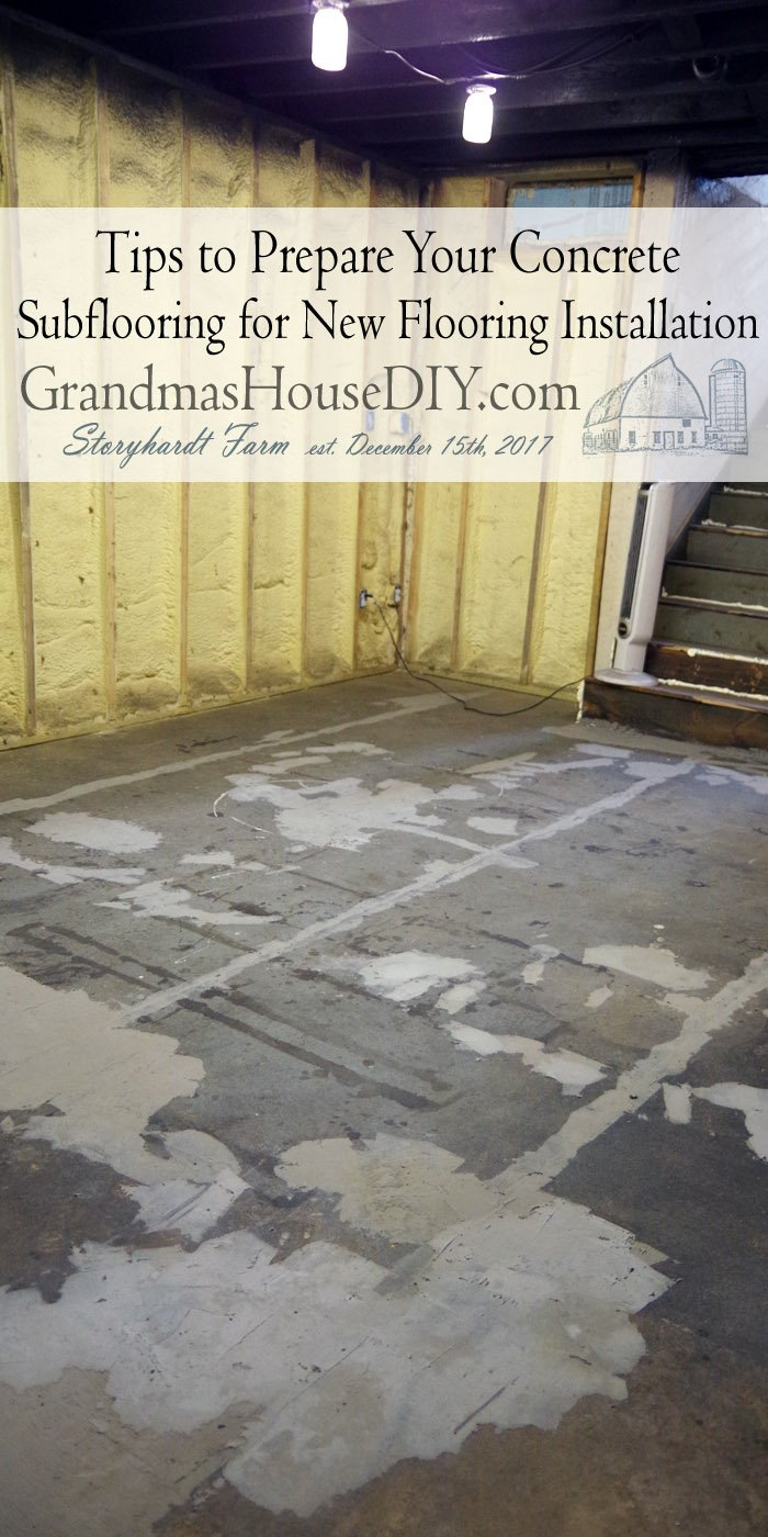 Preparing concrete subflooring (especially an OLD concrete subfloor) is not always for the faint of heart. Depending on what was on it to begin with etc.