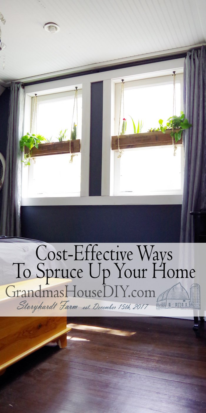 Without a doubt the most cost-effective way to spruce up our places is with good old fashioned elbow grease.