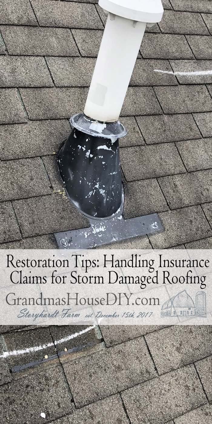 Restoration Tips: Handling Insurance Claims for Storm Damaged Roofing & Siding. It is ironic this post is coming through to Grandma's House DIY
