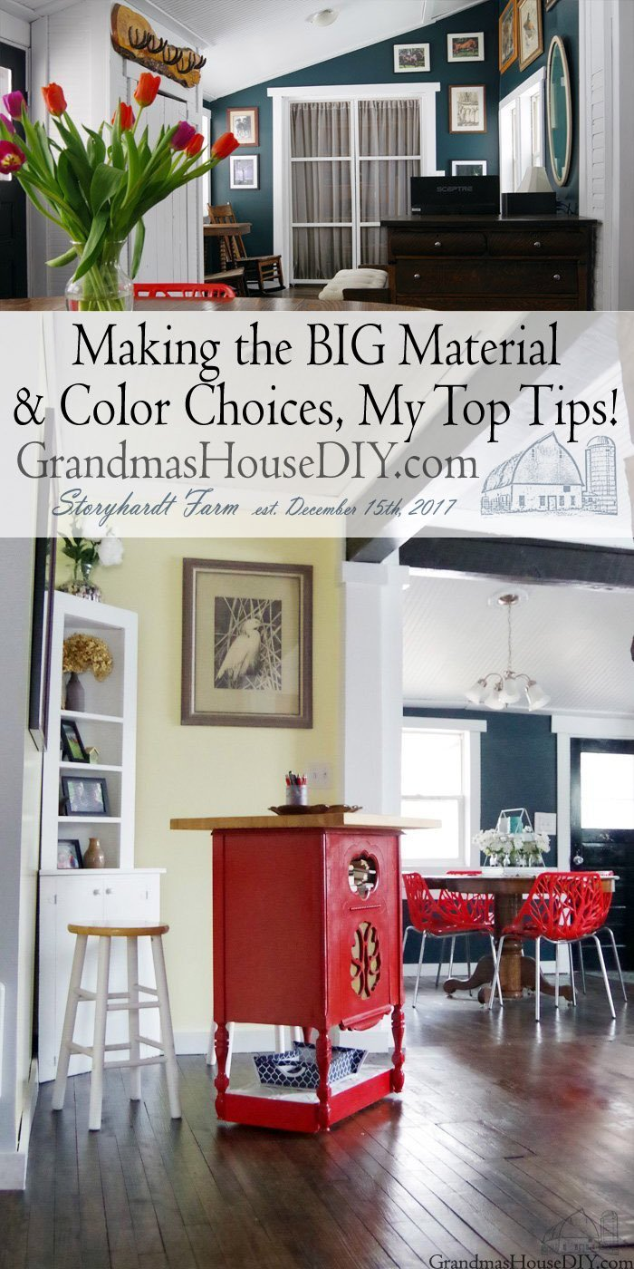 Making the BIG Material and Design Choices - My Top Tips! Not letting large choices paralyze us, figuring out what's timeless and whats just a fad and being