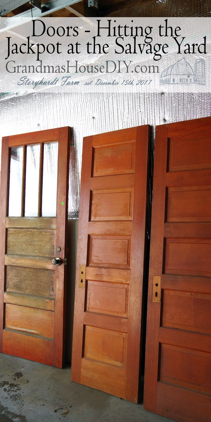 Gorgeous Doors - Winning the Lottery at the Thrift Store, getting lucky and finding all FOUR doors we needed at one time shopping!