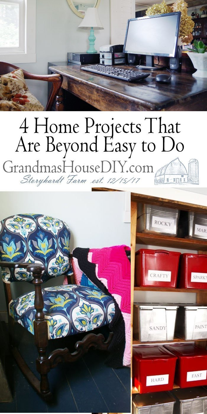 When it comes to home DIY projects, it always feels like it's an endless list of tasks that will never get done. Easy projects you can do it yourself!