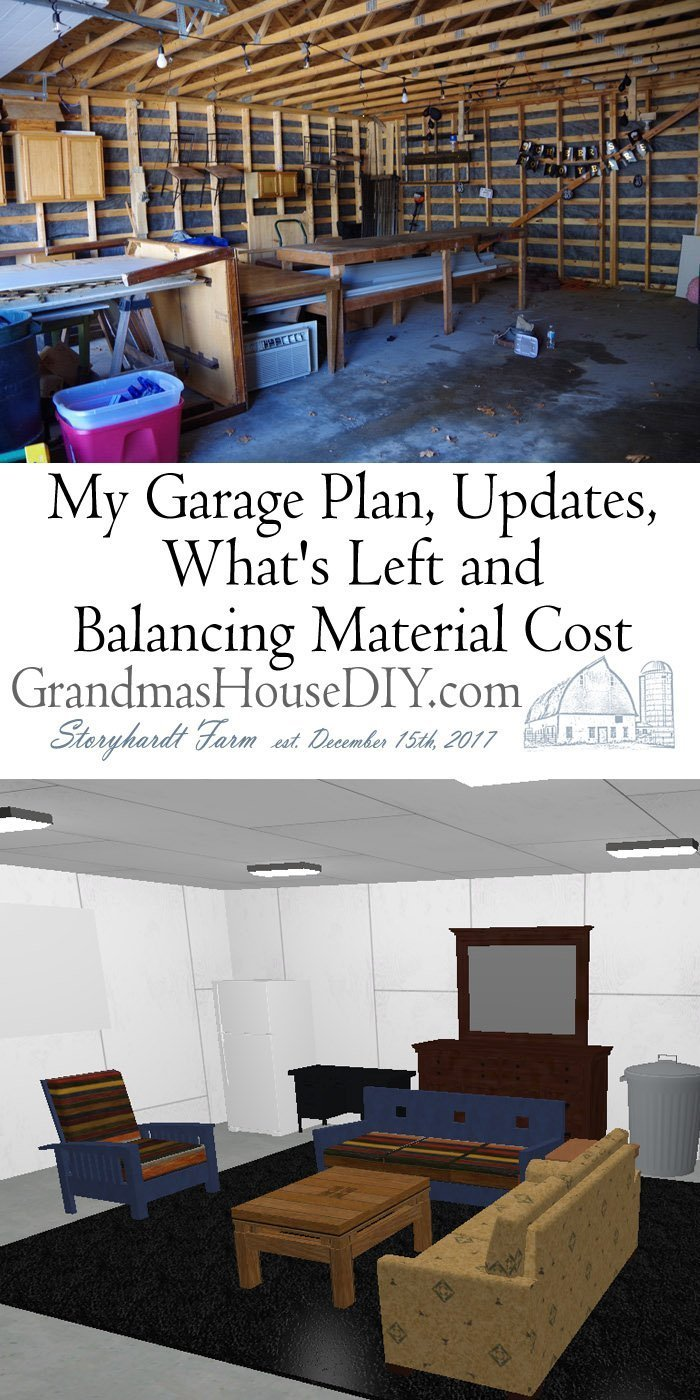 Full garage plan and remodel to finally finish my out building with lights, electric garage door openers, a party area and still room for my car