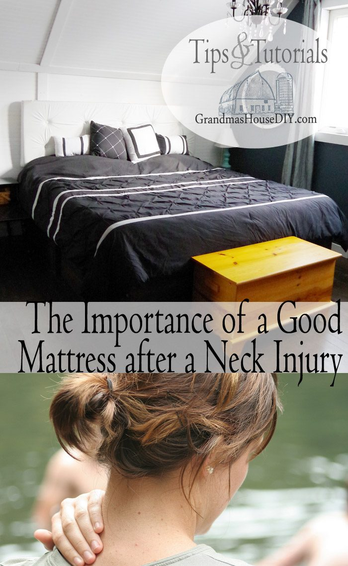 The importance of a good mattress after a neck injury, the average person sleeps for 25 years of their life so choosing the right bed for your is imperative to a happy and healthy life especially after an injury, a good mattress will make all of the difference in comfort and healing after being hurt