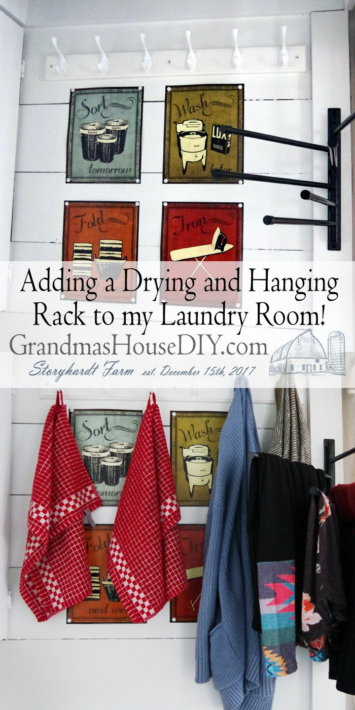 Adding a new drying rack to be newly remodeled laundry room. Because I have a washer/dryer combination machine I needed a place to hang and dry clothes
