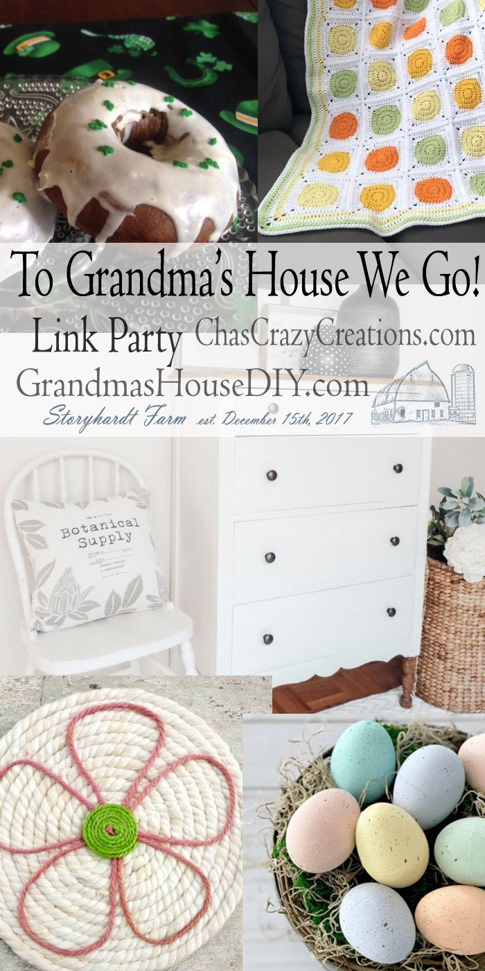 This link party is all about homemade, homemaking, DIY, recycling, upcycling, before and afters (of rooms, furniture, whatever) Wednesday Link Party #183