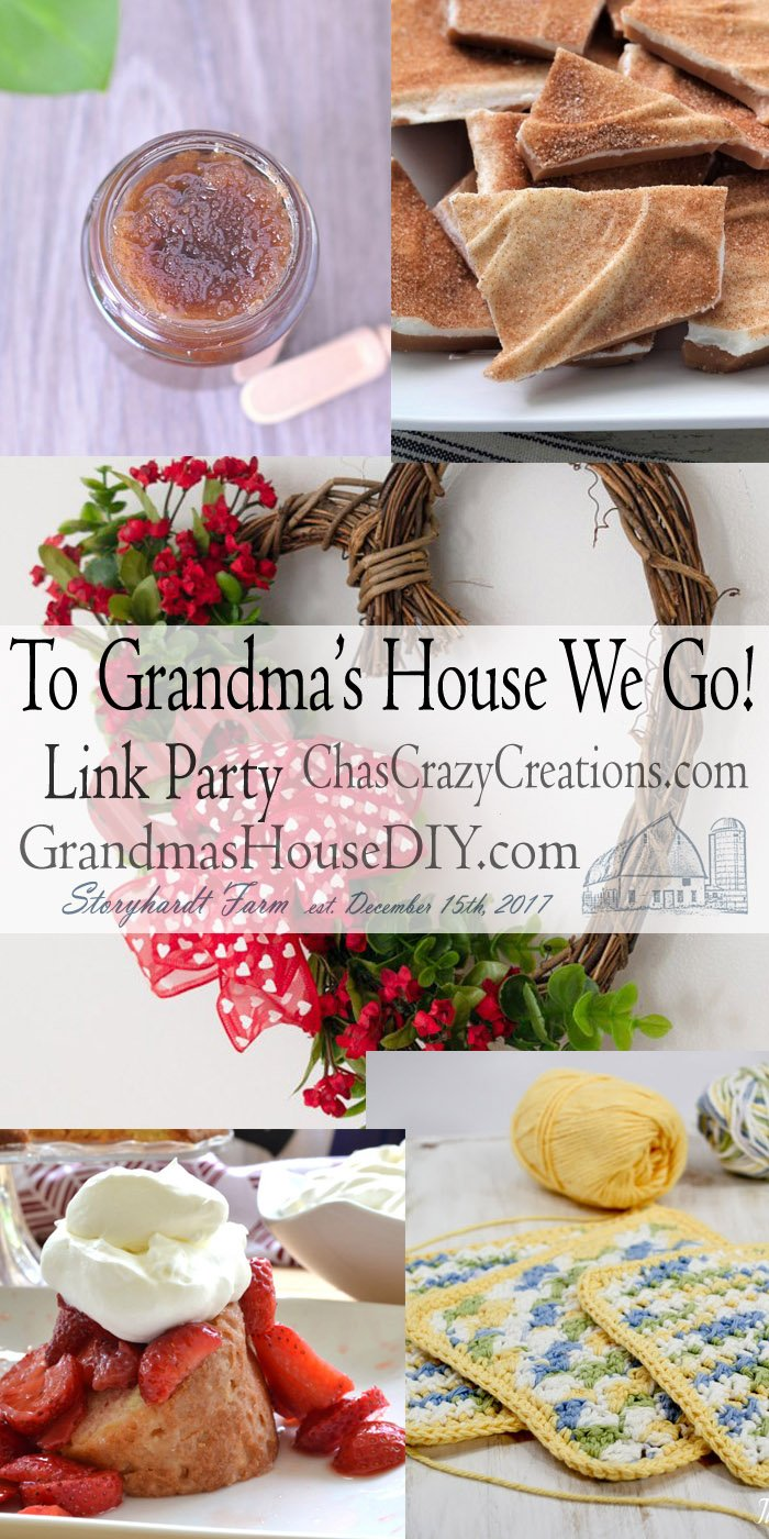 This link party is all about homemade, homemaking, DIY, recycling, upcycling, before and afters (of rooms, furniture, whatever) Wednesday Link Party #176
