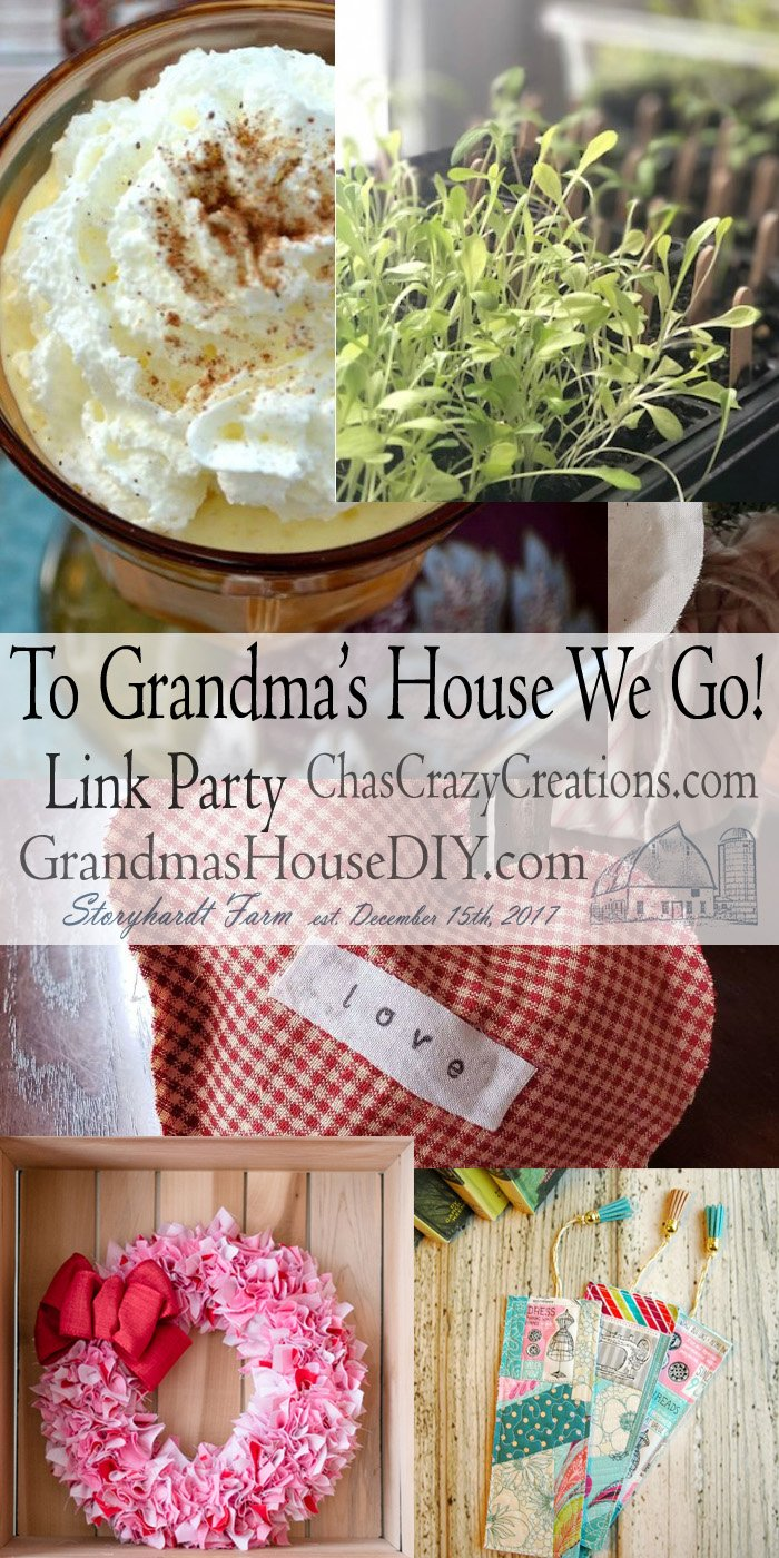 This link party is all about homemade, homemaking, DIY, recycling, upcycling, before and afters (of rooms, furniture, whatever) Wednesday Link Party #178