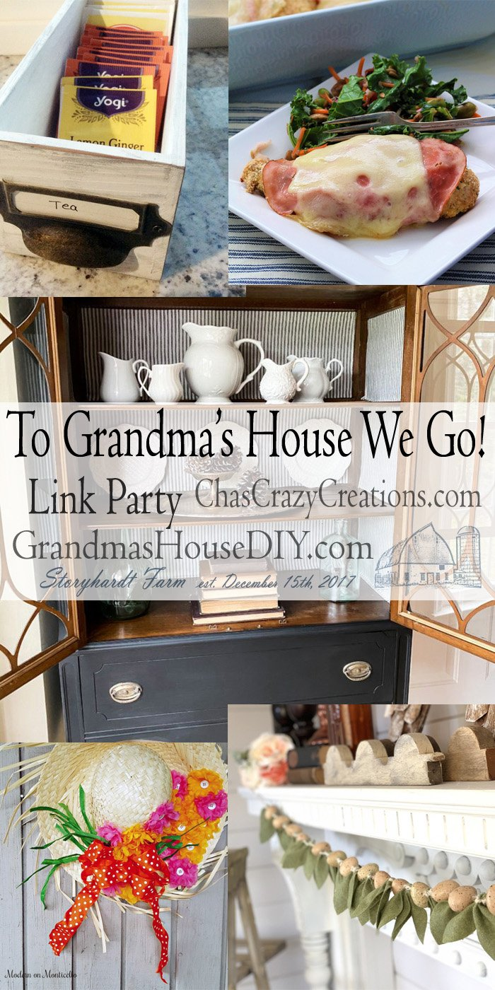 This link party is all about homemade, homemaking, DIY, recycling, upcycling, before and afters (of rooms, furniture, whatever) Wednesday Link Party #179