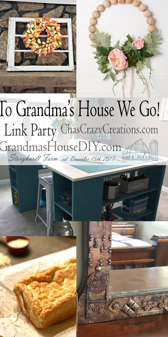 This link party is all about homemade, homemaking, DIY, recycling, upcycling, before and afters (of rooms, furniture, whatever) Wednesday Link Party #181