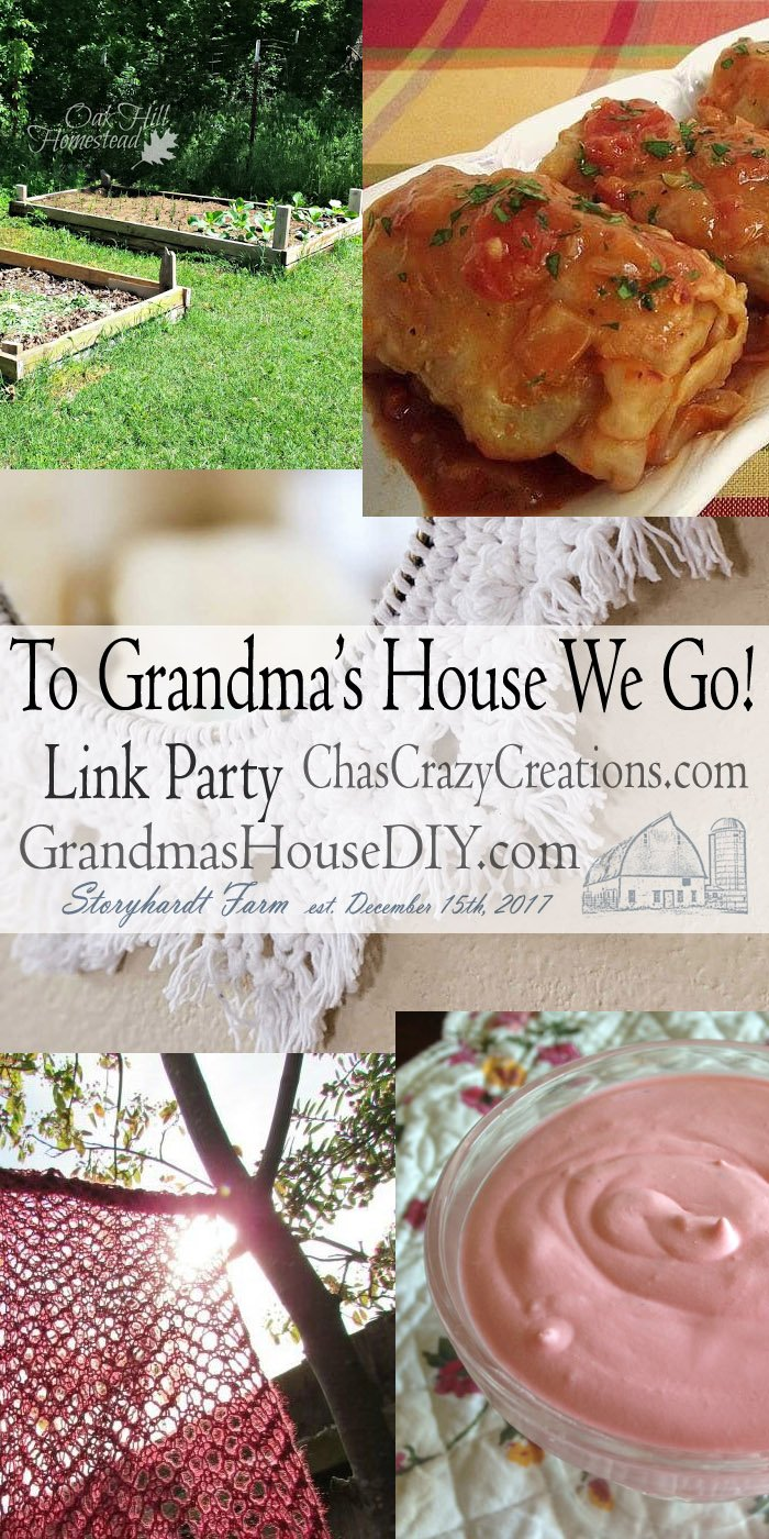 This link party is all about homemade, homemaking, DIY, recycling, upcycling, before and afters (of rooms, furniture, whatever) Wednesday Link Party #182