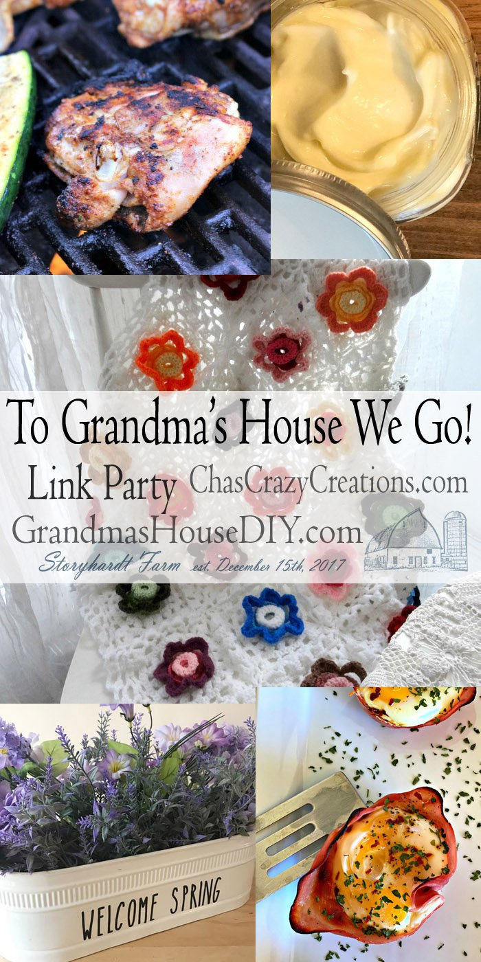 This link party is all about homemade, homemaking, DIY, recycling, upcycling, before and afters (of rooms, furniture, whatever) Wednesday Link Party #184