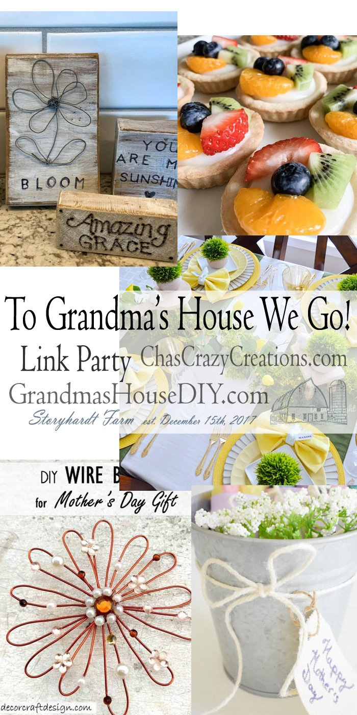 This link party is all about homemade, homemaking, DIY, recycling, upcycling, before and afters (of rooms, furniture, whatever) Wednesday Link Party #189