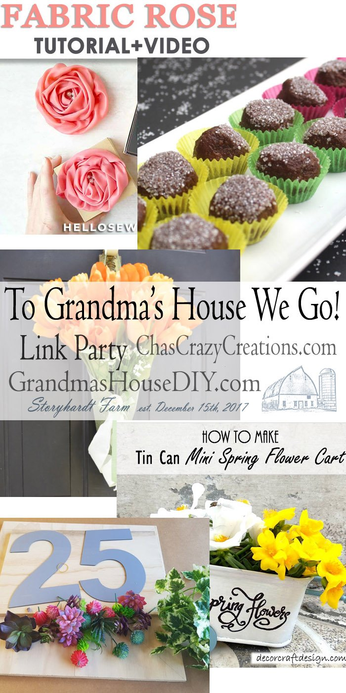 This link party is all about homemade, homemaking, DIY, recycling, upcycling, before and afters (of rooms, furniture, whatever) Wednesday Link Party #191