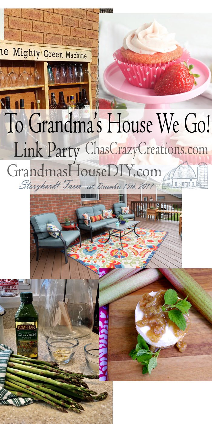 This link party is all about homemade, homemaking, DIY, recycling, upcycling, before and afters (of rooms, furniture, whatever) Wednesday Link Party #195