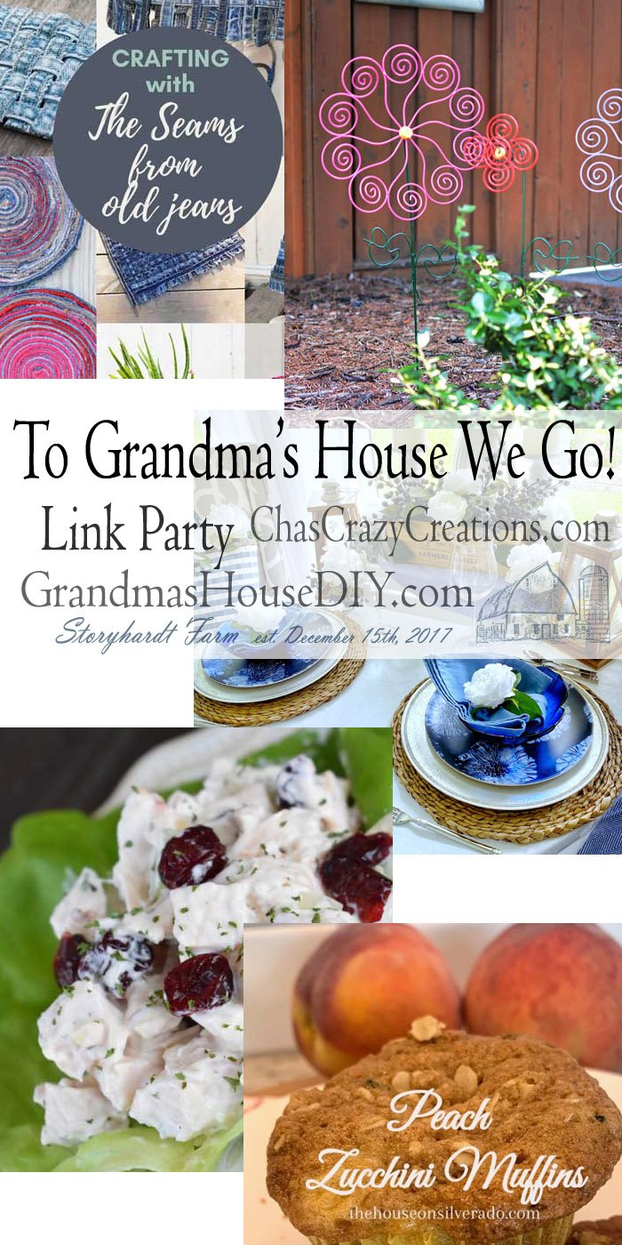 This link party is all about homemade, homemaking, DIY, recycling, upcycling, before and afters (of rooms, furniture, whatever) Wednesday Link Party #202