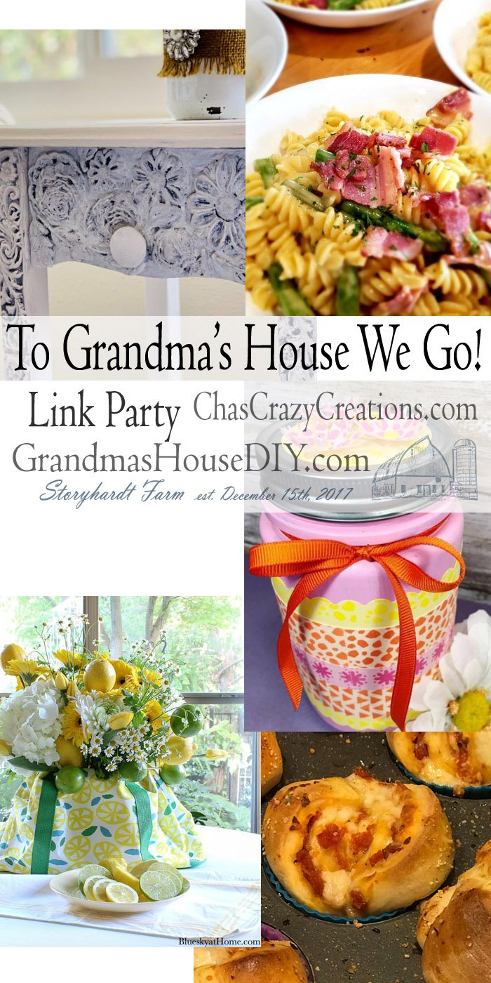 This link party is all about homemade, homemaking, DIY, recycling, upcycling, before and afters (of rooms, furniture, whatever) Wednesday Link Party #203