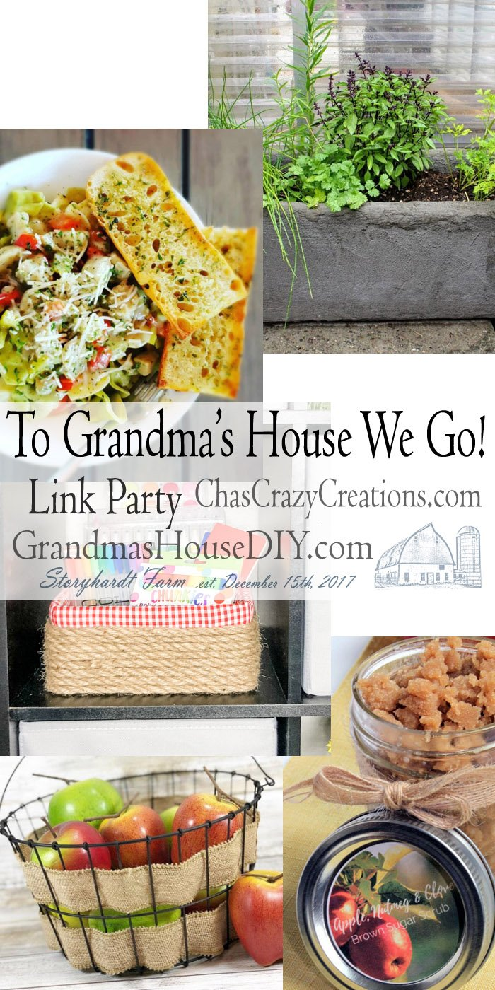 This link party is all about homemade, homemaking, DIY, recycling, upcycling, before and afters (of rooms, furniture, whatever) Wednesday Link Party #204
