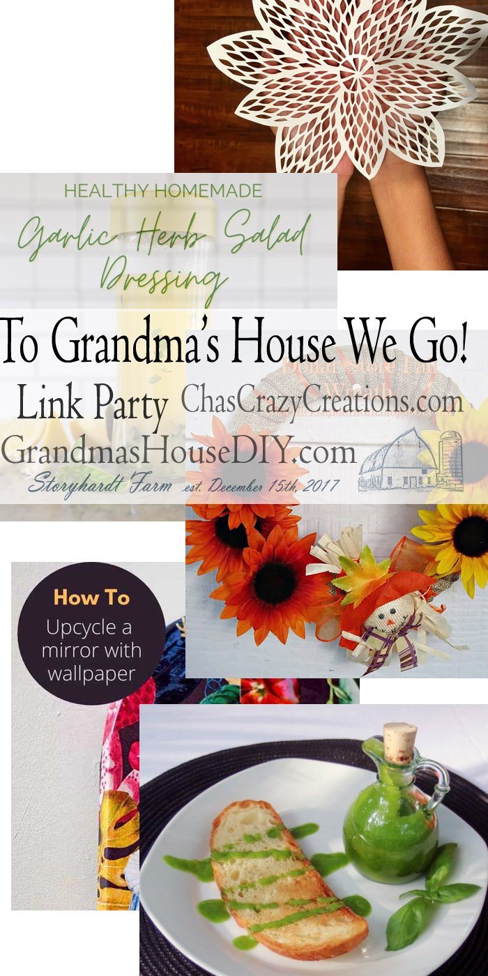 This link party is all about homemade, homemaking, DIY, recycling, upcycling, before and afters (of rooms, furniture, Link Party #205