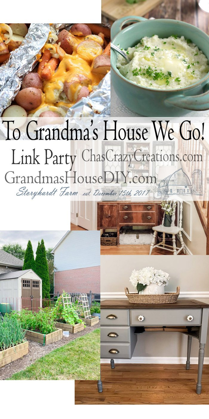 This link party is all about homemade, homemaking, DIY, recycling, upcycling, before and afters (of rooms, furniture) Link Party #206