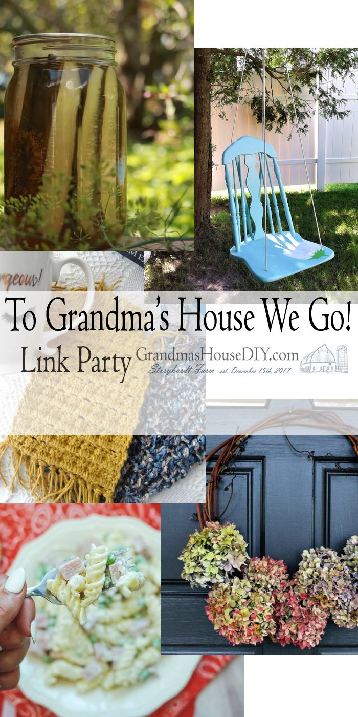 This link party is all about homemade, homemaking, DIY, recycling, upcycling, before and afters (of rooms, Wednesday Link Party #207