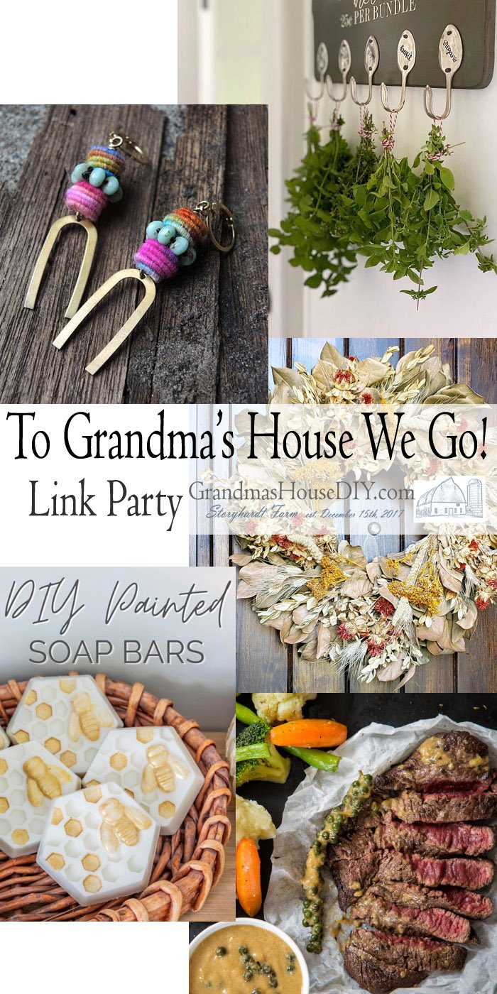 This link party is all about homemade, homemaking, DIY, recycling, upcycling, before and afters (of rooms, Wednesday Link Party