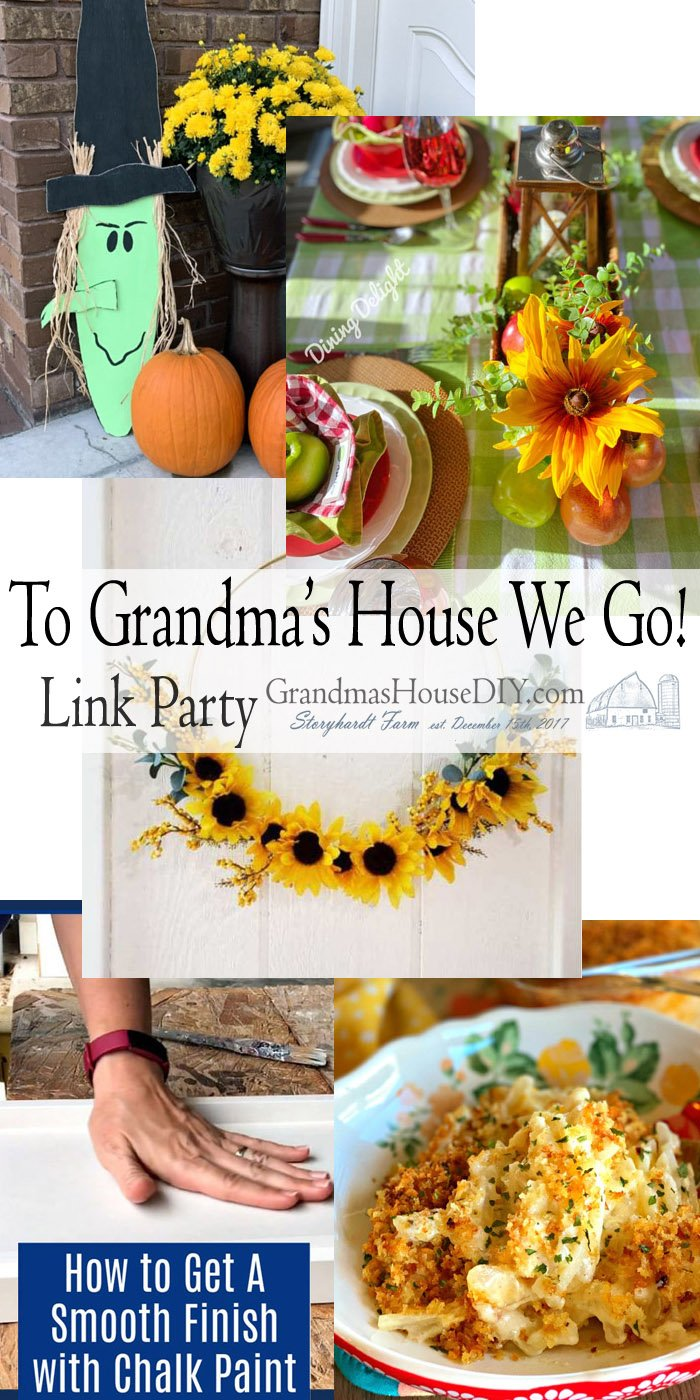 This link party is all about homemade, homemaking, DIY, recycling, upcycling, before and afters (of rooms, Wednesday Link Party #209