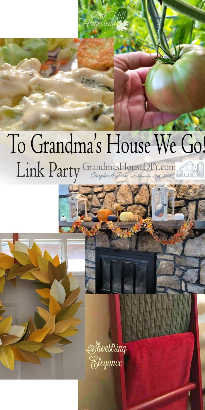 This link party is all about homemade, homemaking, DIY, recycling, upcycling, before and afters (of rooms, Wednesday Link Party #210