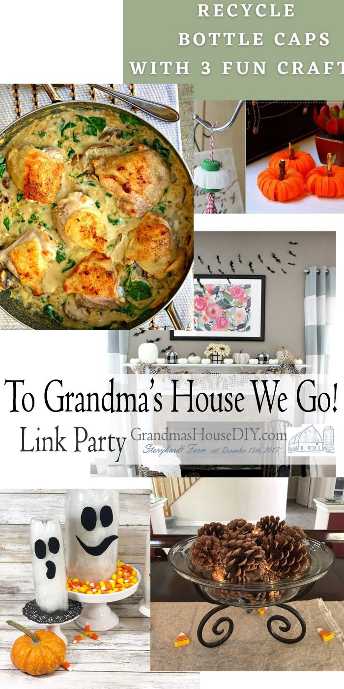 This link party is all about homemade, homemaking, DIY, recycling, upcycling, before and afters (of rooms, Wednesday Link Party #211