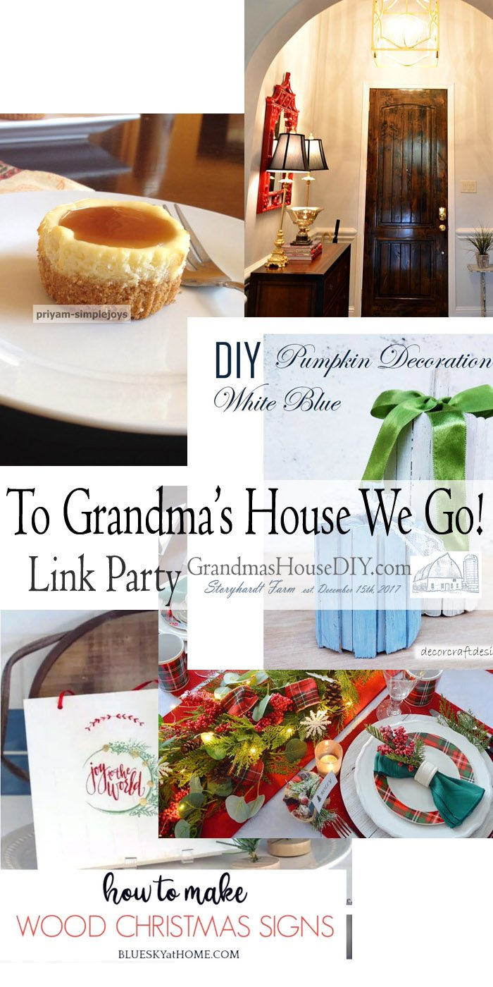 This link party is all about homemade, homemaking, DIY, recycling, upcycling, before and afters (of rooms, Wednesday Link Party #218