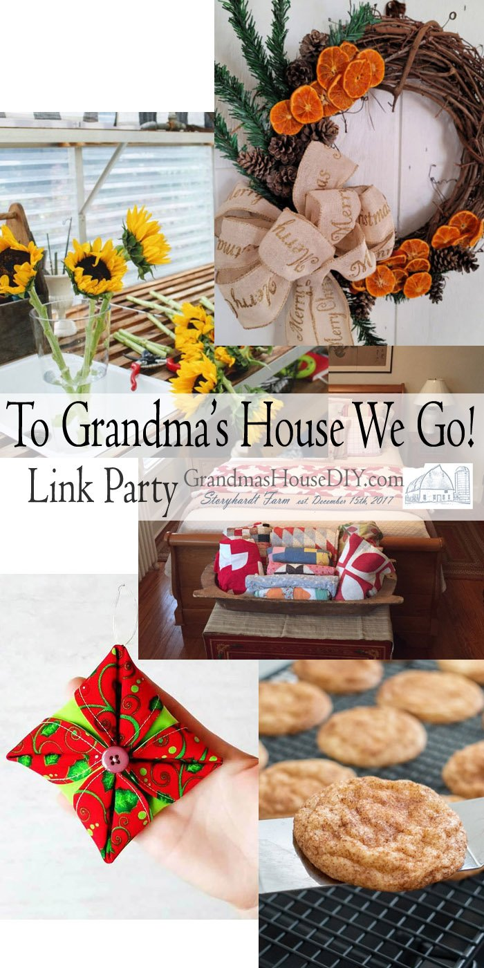 This link party is all about homemade, homemaking, DIY, recycling, upcycling, before and afters (of rooms, Wednesday Link Party #219