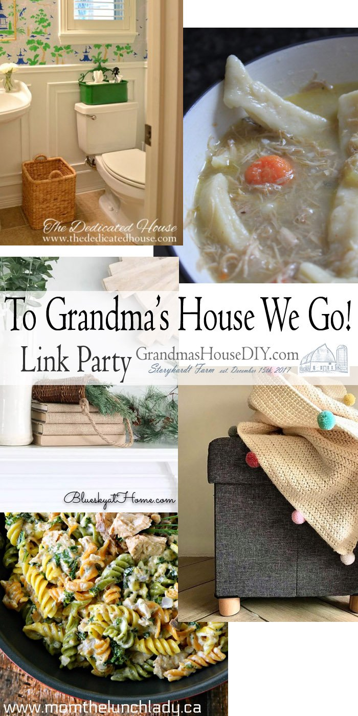 This link party is all about homemade, homemaking, DIY, recycling, upcycling, before and afters (of rooms, Wednesday Link Party #226