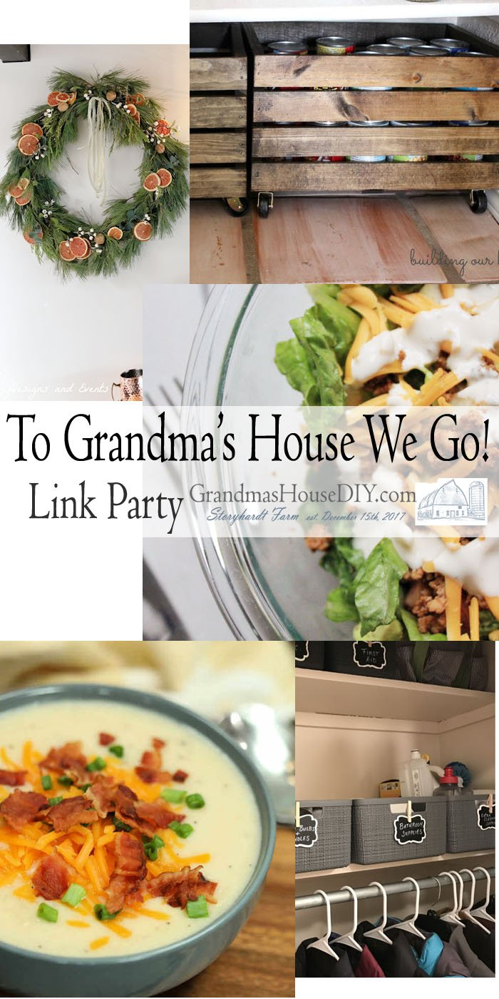 This link party is all about homemade, homemaking, DIY, recycling, upcycling, before and afters (of rooms, Wednesday Link Party #227