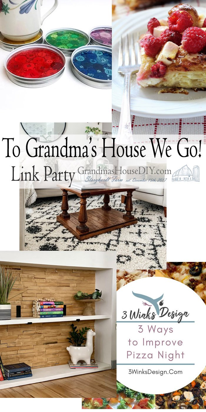 This link party is all about homemade, homemaking, DIY, recycling, upcycling, before and afters (of rooms, Wednesday Link Party #231