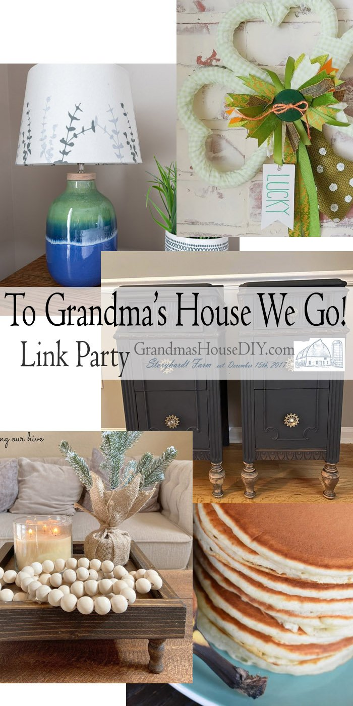 This link party is all about homemade, homemaking, DIY, recycling, upcycling, before and afters (of rooms, Wednesday Link Party #232