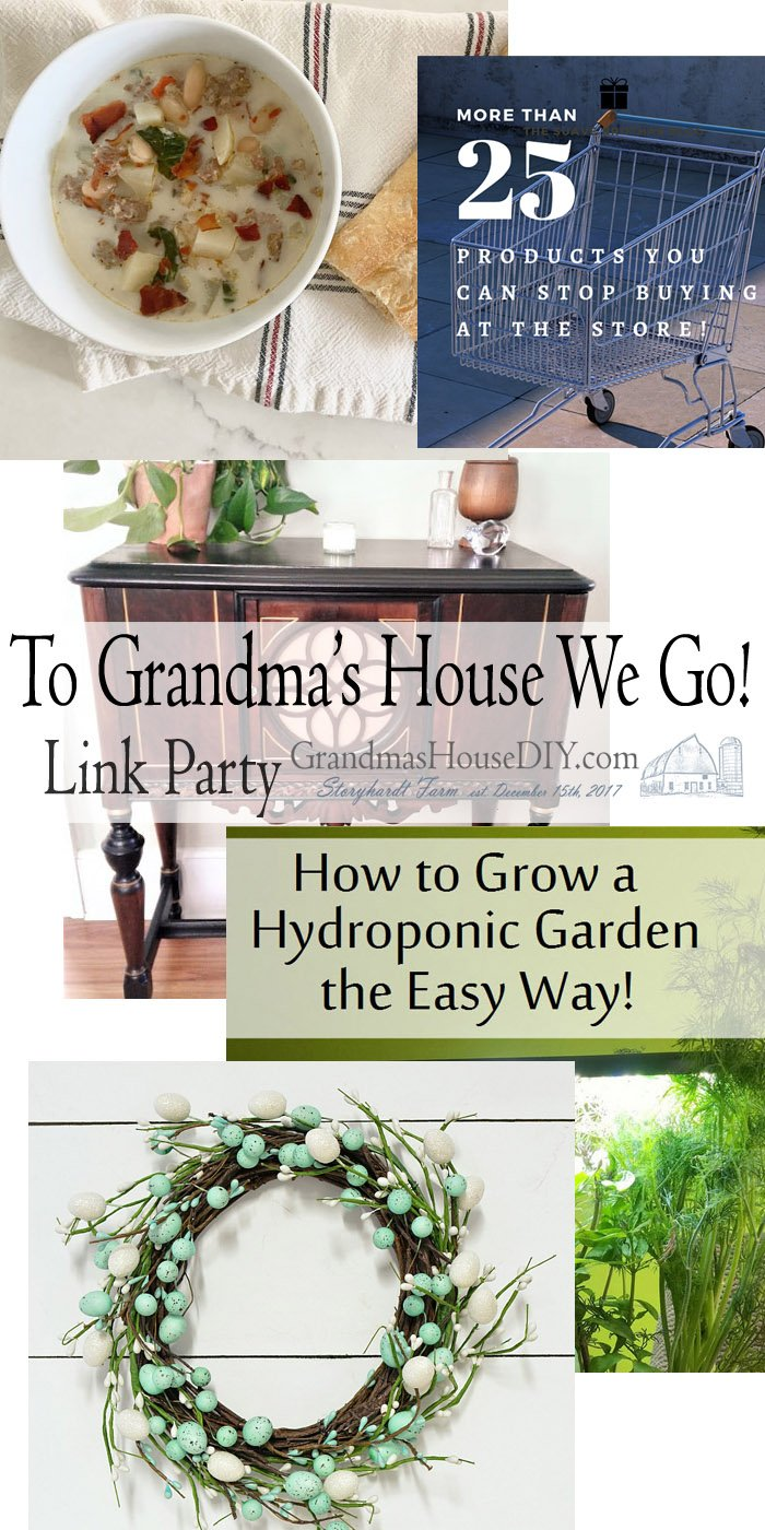This link party is all about homemade, homemaking, DIY, recycling, upcycling, before and afters (of rooms, Wednesday Link Party #233