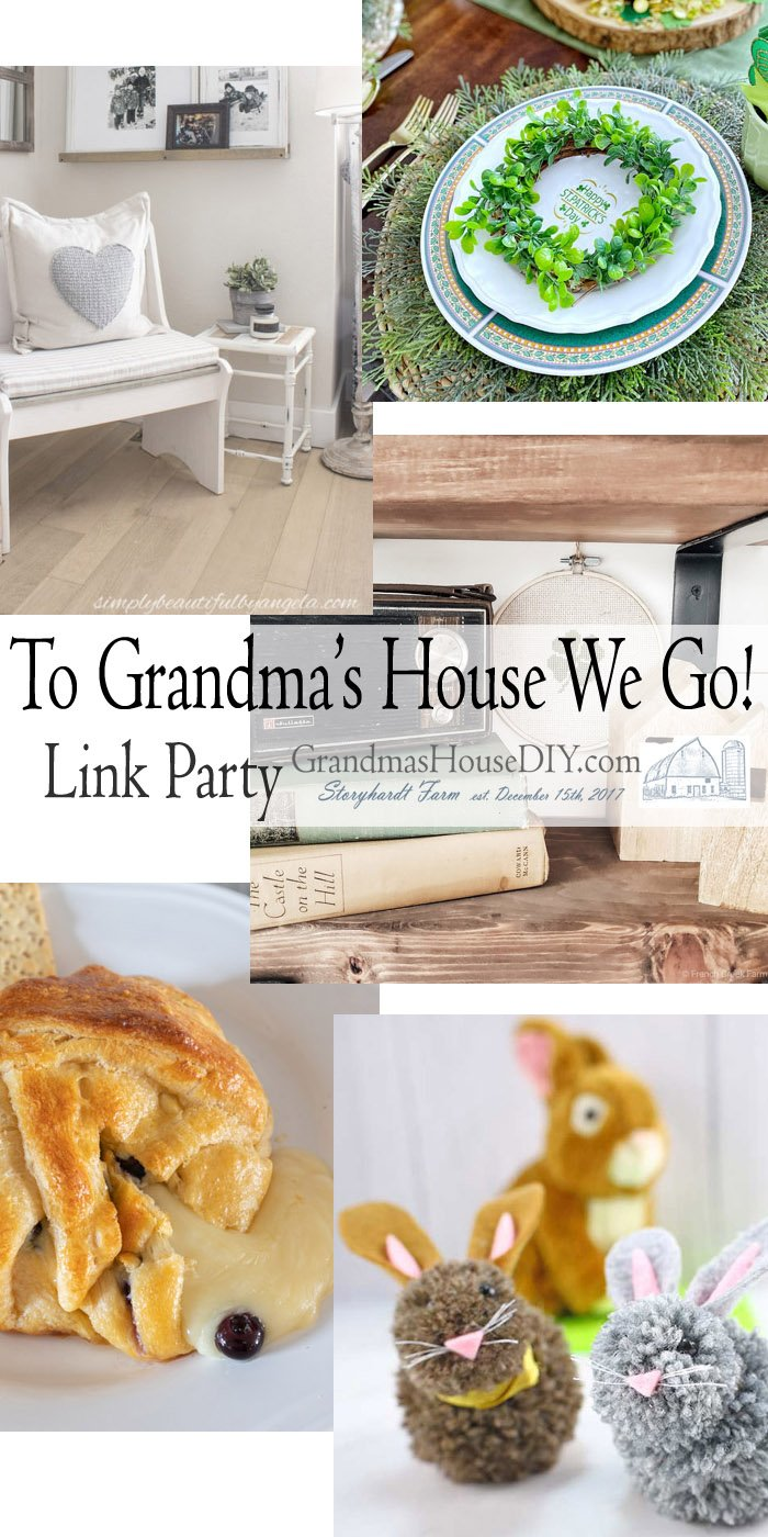 This link party is all about homemade, homemaking, DIY, recycling, upcycling, before and afters (of rooms, Wednesday Link Party #234