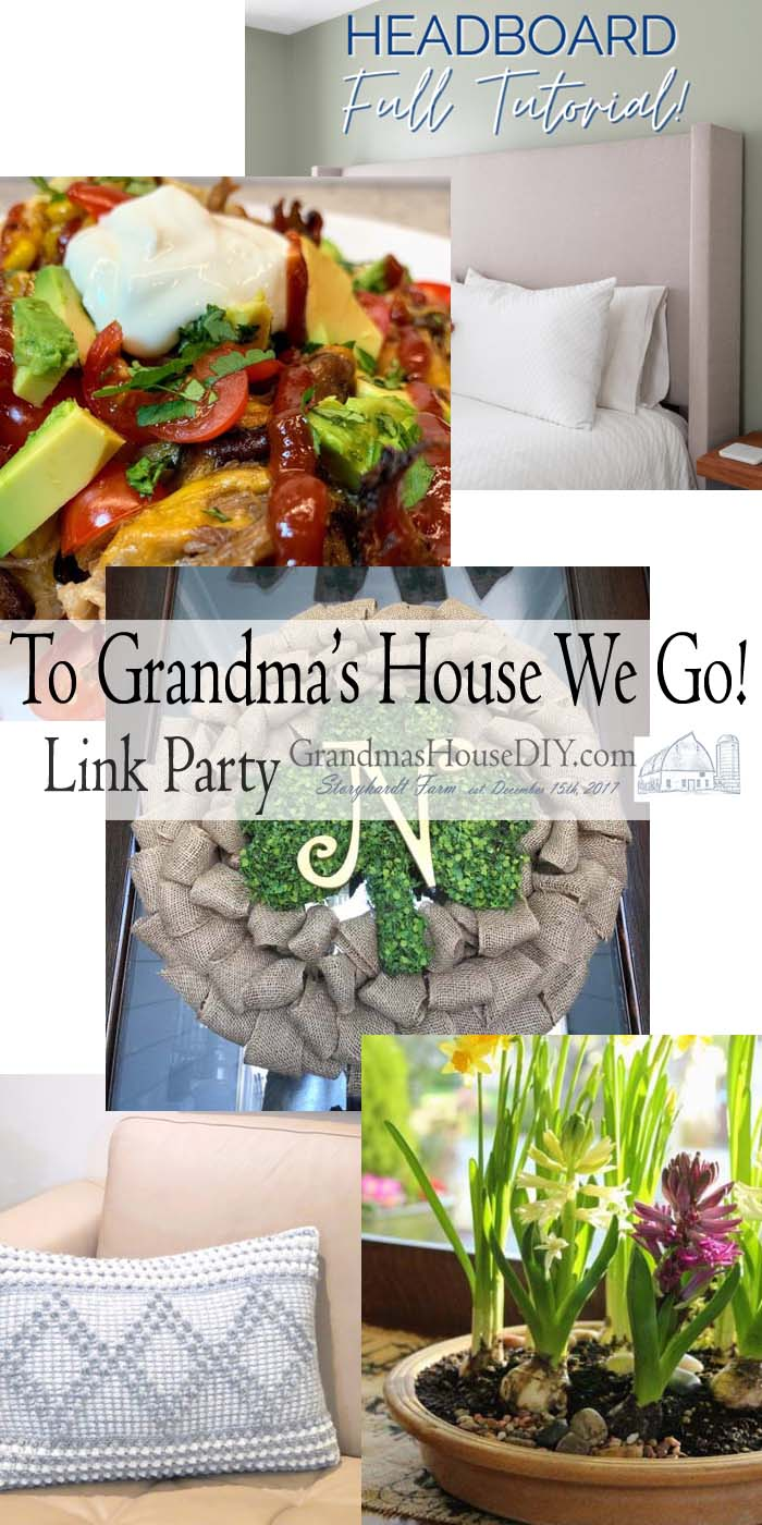 This link party is all about homemade, homemaking, DIY, recycling, upcycling, before and afters (of rooms, Wednesday Link Party #235