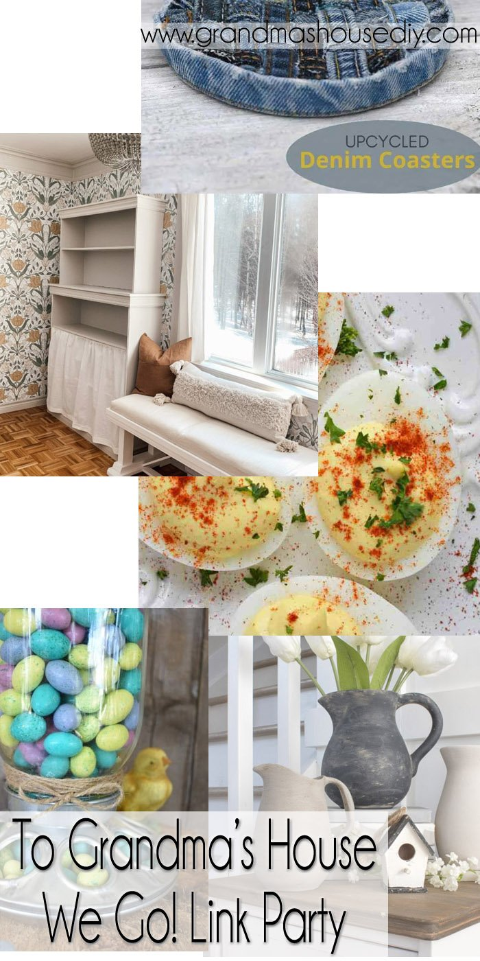 This link party is all about homemade, homemaking, DIY, recycling, upcycling, before and afters (of rooms, Wednesday Link Party #238