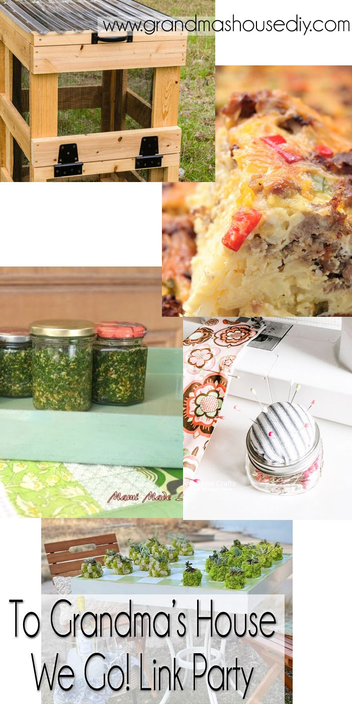 This link party is all about homemade, homemaking, DIY, recycling, upcycling, before and afters (of rooms, Wednesday Link Party #239