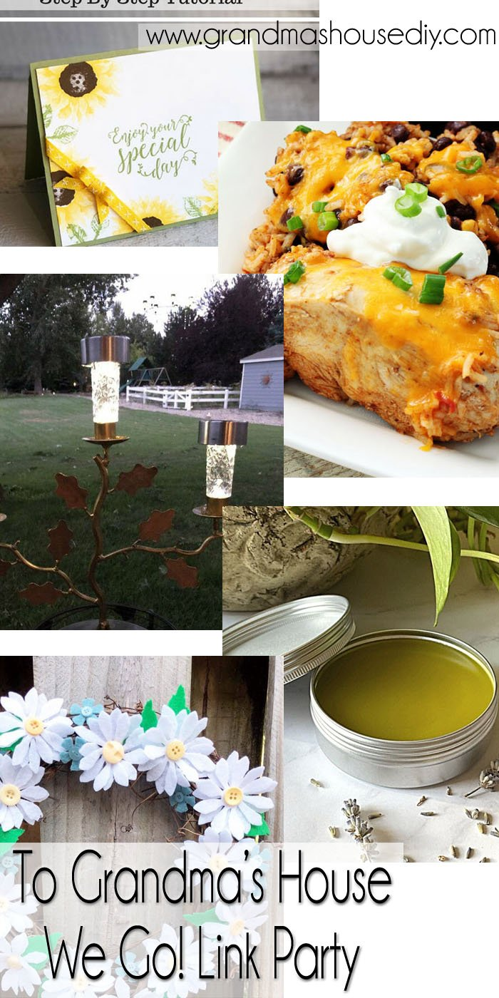 This link party is all about homemade, homemaking, DIY, recycling, upcycling, before and afters (of rooms, Wednesday Link Party #242