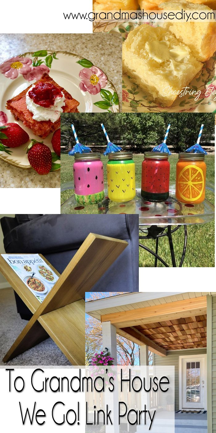 This link party is all about homemade, homemaking, DIY, recycling, upcycling, before and afters (of rooms, Wednesday Link Party #246
