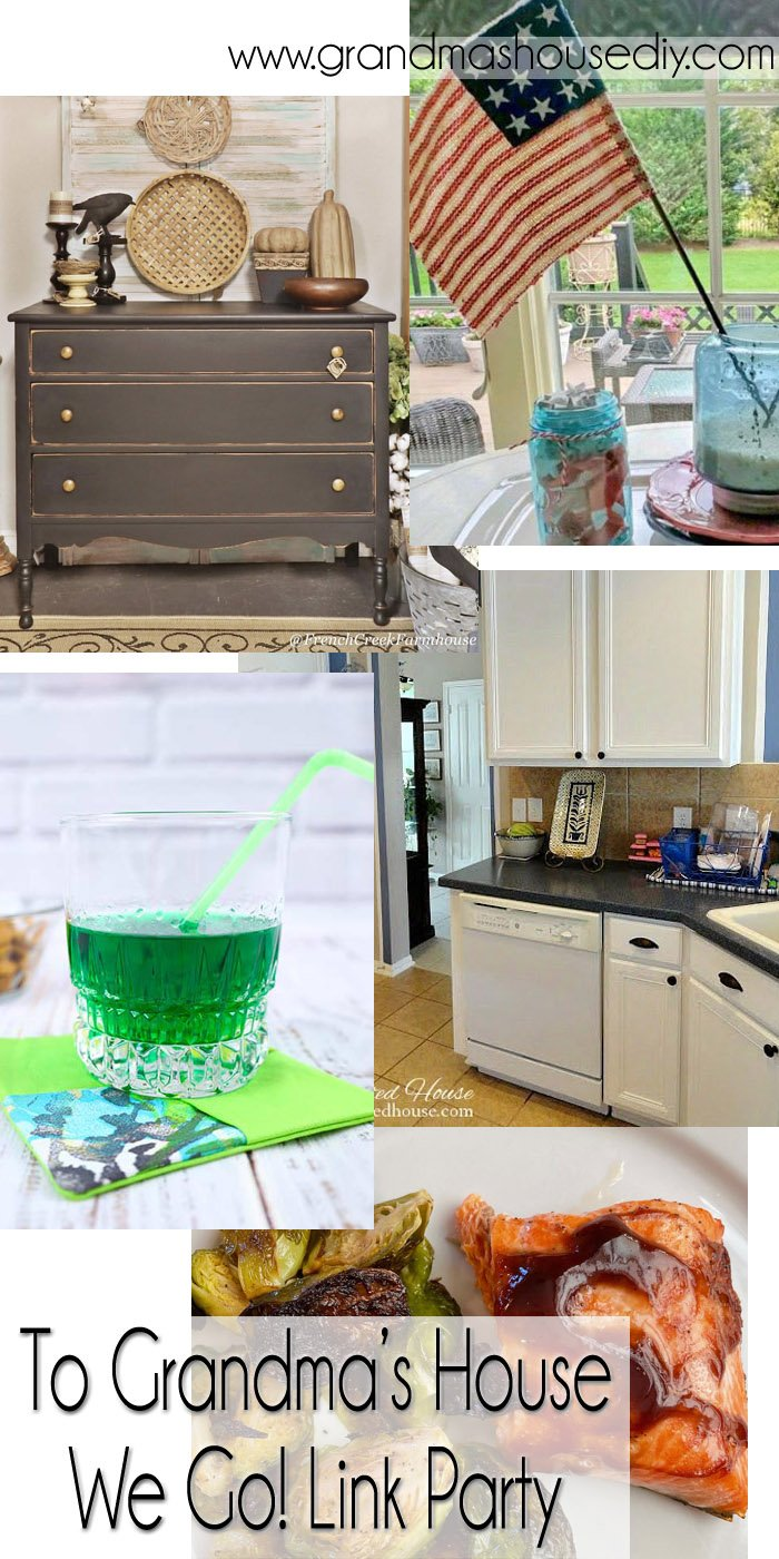 This link party is all about homemade, homemaking, DIY, recycling, upcycling, before and afters (of rooms, Wednesday Link Party #248