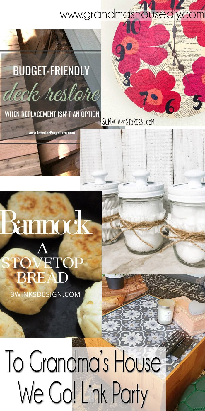 This link party is all about homemade, homemaking, DIY, recycling, upcycling, before and afters (of rooms, Wednesday Link Party #252