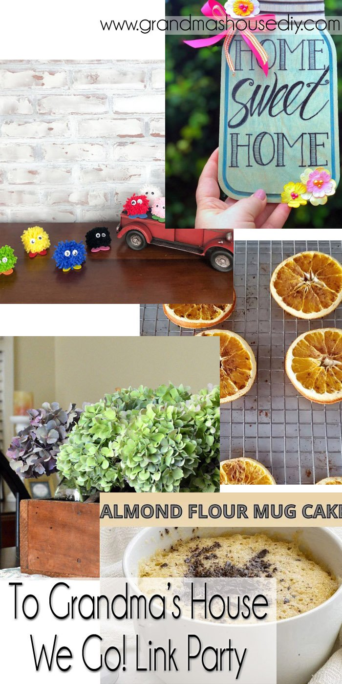 This link party is all about homemade, homemaking, DIY, recycling, upcycling, before and afters (of rooms, Wednesday Link Party #254