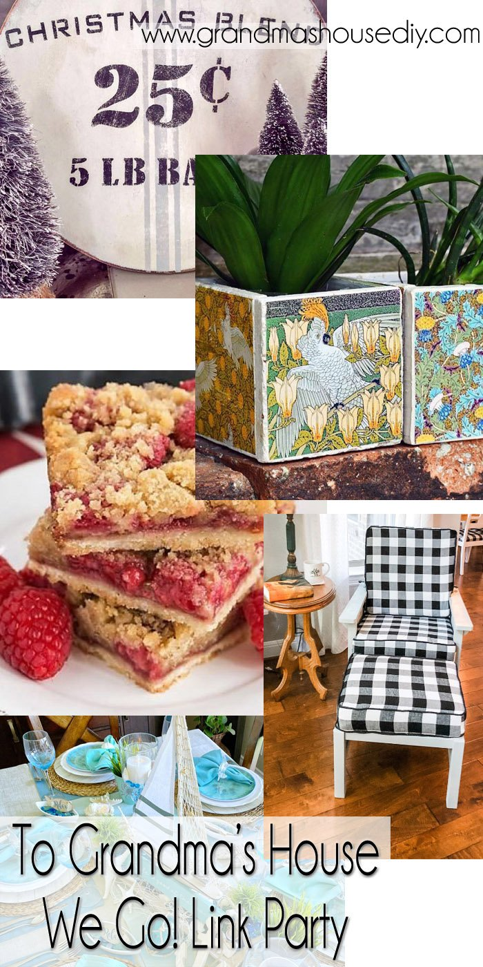 This link party is all about homemade, homemaking, DIY, recycling, upcycling, before and afters (of rooms, Wednesday Link Party #257