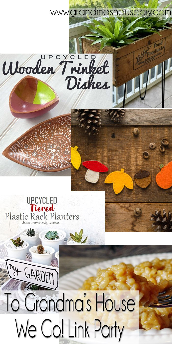 This link party is all about homemade, homemaking, DIY, recycling, upcycling, before and afters (of rooms, Wednesday Link Party #258