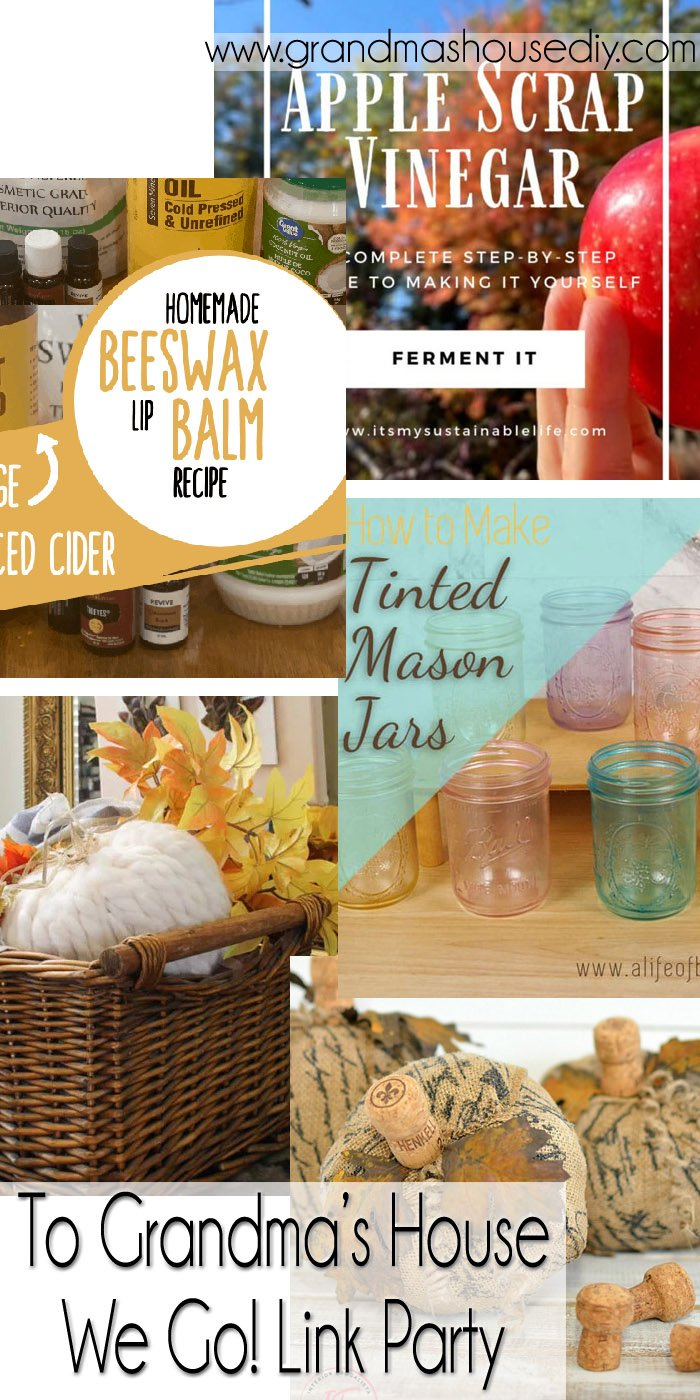 This link party is all about homemade, homemaking, DIY, recycling, upcycling, before and afters (of rooms, Wednesday Link Party #262
