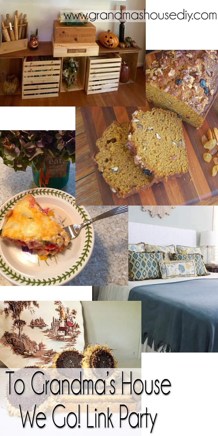 This link party is all about homemade, homemaking, DIY, recycling, upcycling, before and afters (of rooms, Wednesday Link Party #264