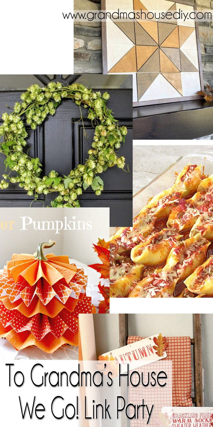 This link party is all about homemade, homemaking, DIY, recycling, upcycling, before and afters (of rooms, Wednesday Link Party #265